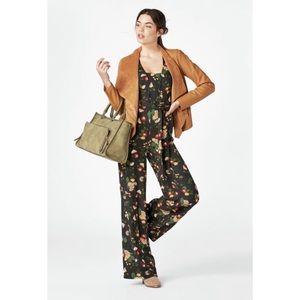 JustFab Floral Jumpsuit